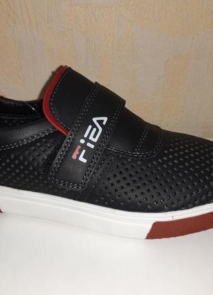 Летние туфли на мальчика 32-37 р bessky, черные