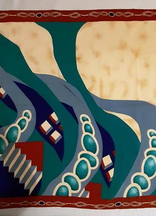 Шелковый платок по типу hermes chanel celine ysl christian dior