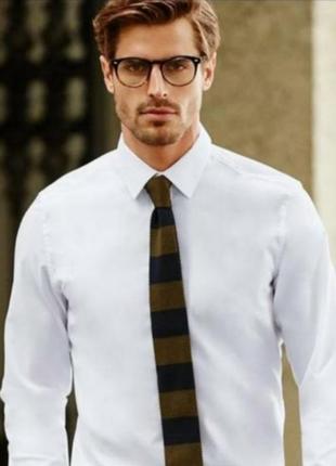 Белая бизнес рубашка. 100%котон.nobel league