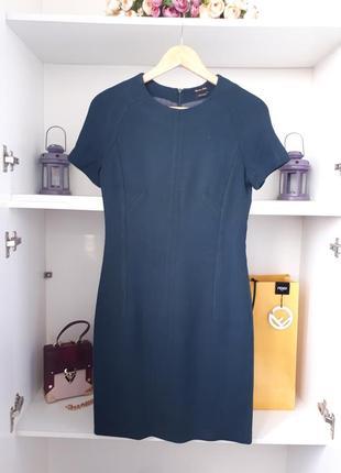 Шерстяное мини платье massimo dutti