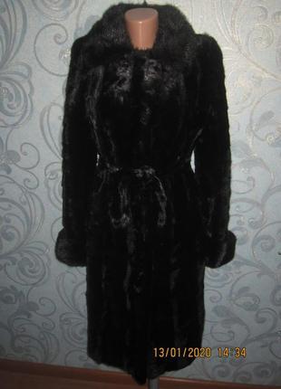 Красивейшая норковая черная шуба в идеальном состоянии размер м