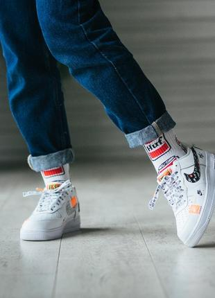 """Nike a*ir force 1 low """"just do it"""" white кроссовки"""
