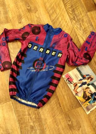 Ветровка велоформа.термо мастерка.термо кофта для спорта. яркая куртка вело