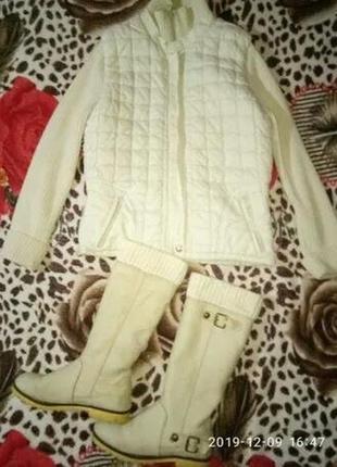 Фирменная стеганная курточка + сапожки нубук