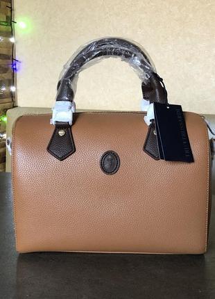 Кожаная сумка благородного коричневого цвета