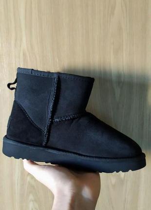 Распродажа теплых ботинок ugg mini ⛄️ угги черные замша