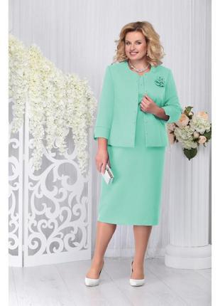 Комплект платье и пиджак костюм большой размер 62 от белорусского производителя
