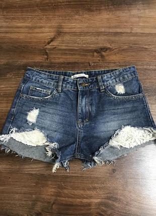 Новые джинсовые шорты,высокая посадка