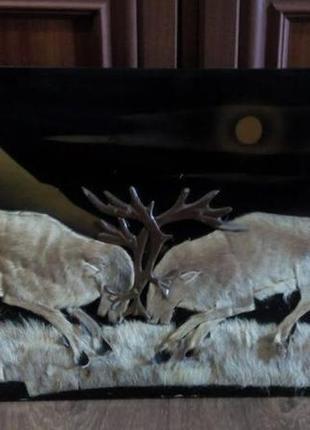 Панно из оленьего меха ссср советское картина дудинка