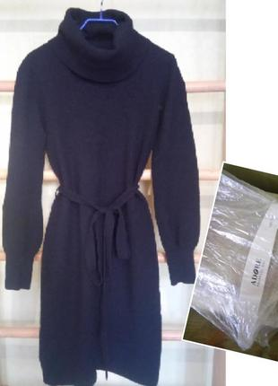 Теплое платье mango zara разм s