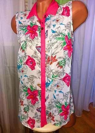 Яркая шифоновая блуза