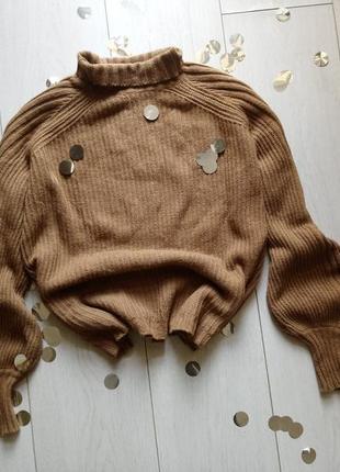 Крутой коричневый свитер made in italy