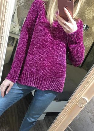 Сиреневый тёплый мягкий свитер
