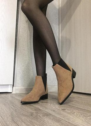 Новые трендовые ботинки сапоги с острым носком