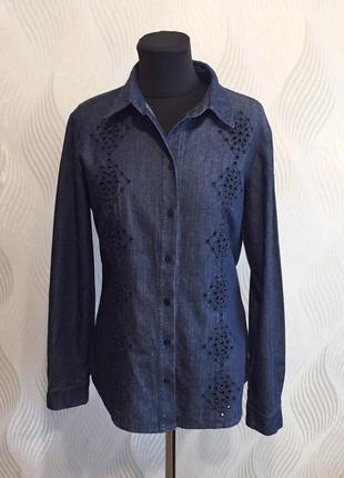 Ажурная джинсовая рубашка armani jeans