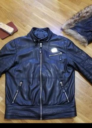 Кожанная куртка philipp plein