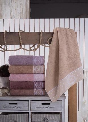 Шикарный набор  турецких махровых полотенец paris