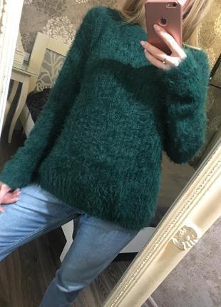 Мягкий тёплый пушистый свитер