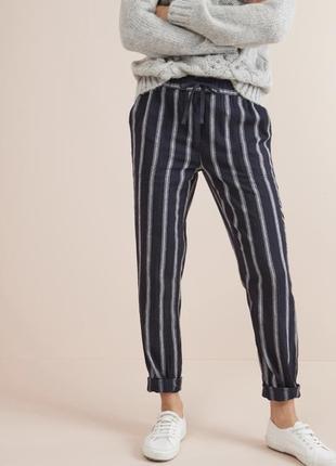 Льняные стильные брюки next. s/m/l. англия 🏴