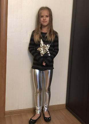 Обалденные модные  лосины для девочки