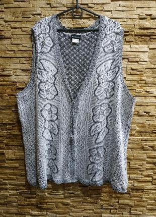 Красивая вязанная блуза,безрукавка.супер- батал !  60 евро размер