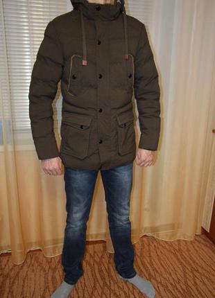 Крутая мужская куртка супер цена дешево на холофайбере теплая.