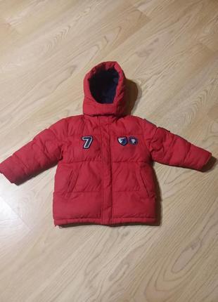Яркая и теплая зимняя куртка на 4-5 лет
