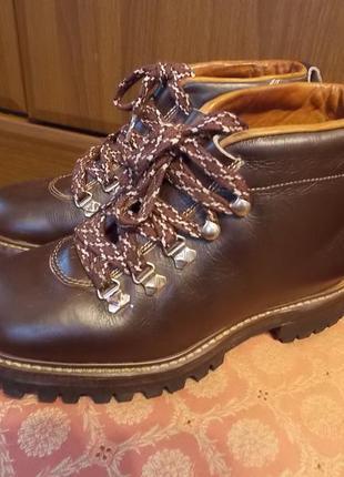 Кожанные ботинки-бомба демисезон