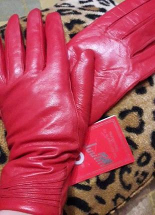 Перчатки из натуральной мягкой кожи