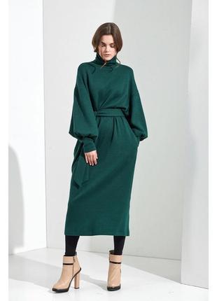 Модное платье трикотаж с поясом