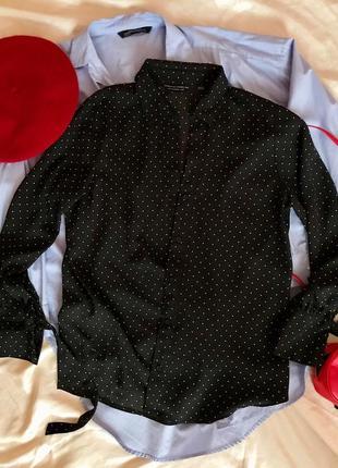Шикарная классическая блуза в актуальный принт