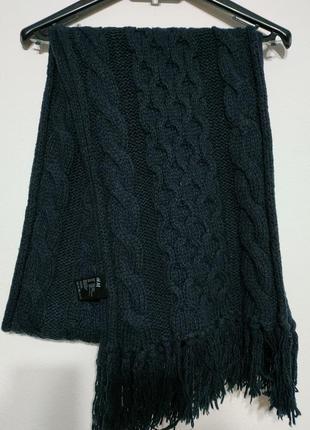 Сост нов h&m фирменный шарф в косы синий косичка унисекс мужской женский zxc lkj mnb