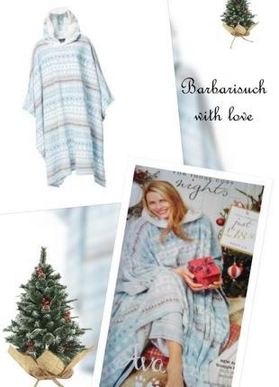 Пушистое теплое пончо халат платье для дома avon one size