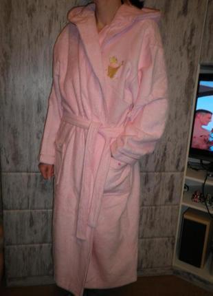 Удобный мягкий качественный халат с капюшоном disney store оригинал 40-42 размер