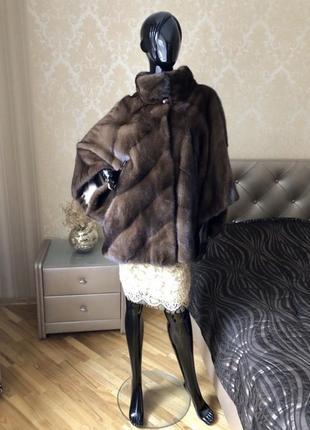 Норковая шуба romagna furs, италия, оверсайз, 50-60 размер, соболь
