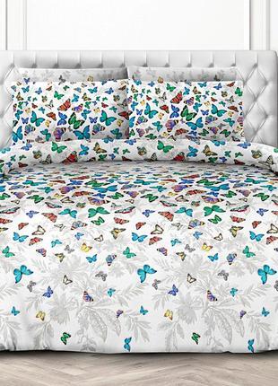 Бабочки 3д - натуральное постельное белье из перкаля