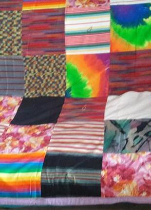 Лоскутное одеяло, покрывало, плед, пэчворк, ручная работа