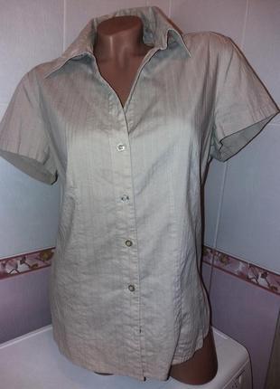 Бежевая рубашка большой размер
