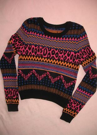 Джемпер свитер вязанный