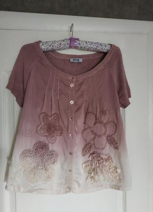 Шелковая блузка moschino cheap&chic