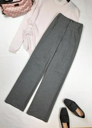 Прямые широкие брюки hugo boss, палаццо, m,l