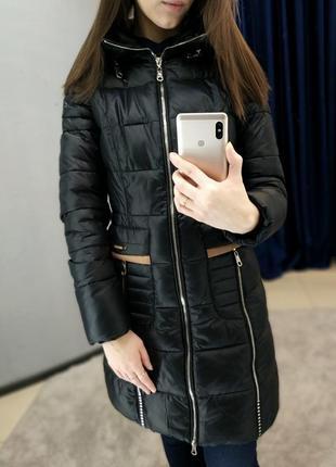 Зимняя удлиненная куртка, зимний плащ, пуховик
