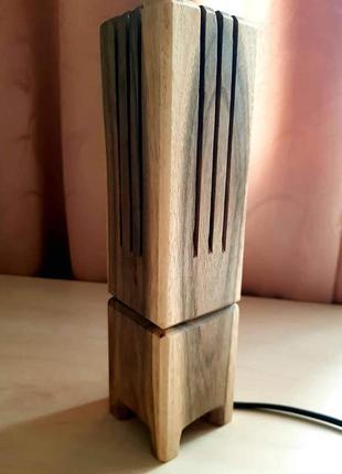 Настольная лампа дерево ручная работа подарок