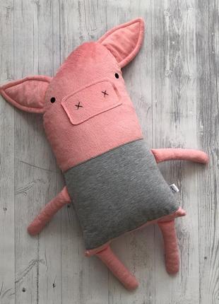Декоративна іграшка подушка порося хромпі
