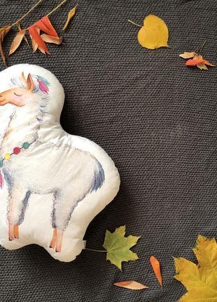 Декоративна подушка іграшка лама мірабель
