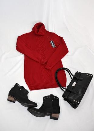 Красная вязаная женская туника esmara.код 2779