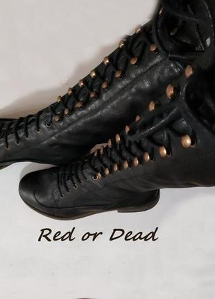 Сапоги стильные red or dead, на объемную ступню, осенняя брендовая обувь по лучшей цене!