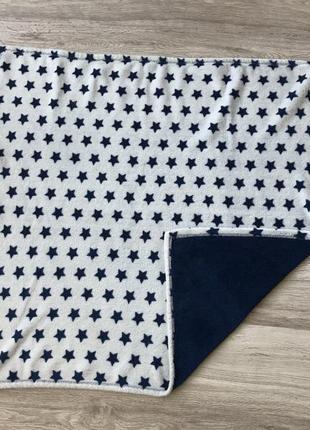 Детский синий плед со звёздами