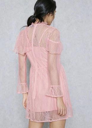 Нежное розовое платье двойка4 фото