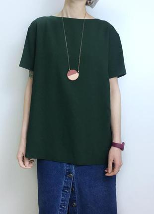 Зелёная блуза cos